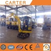 Poland clients visit Carter CT18(1.8t) mini excavator