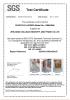 SGS certifiate for scaffold ladder