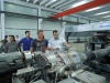 Customer testing PE double wall corrugated pipe machine in our factory