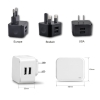UK/US/EU Plug Dual USB Wall Travel Charger Pass Ce/RoHS/FCC