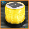 Solar Powered LED Amber Warning Lights with High Intensity Sensor Manual Control