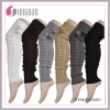 NEW DESIGN KNITTED WOMAN'S LACE BUTTON LEG WARMER