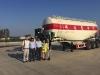 Pakistan customer visiting for bulk cement trailer