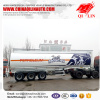 43000liters 3 compartments aluminum alloy fuel tank truck trailer for Kenya
