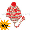 Jacquard Knitted Hat With Ear Flaps(Jrk023)