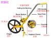 Wintape long distance walker measuring wheels