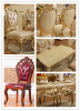 Wood Dining Table with Sofa Chair for Sales Promotion