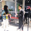 Liqun jacquard fabric is interviewed by TV station