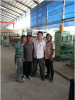 Our engineer with Indonesian customer in Indonesia