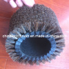 horse hair round shoe polishing brush