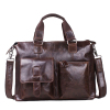 top layer leather oiled waxing leather fashion diagonal laptop handbag