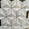 Rhombus marble mosaic,white marble mosaic tile,marble mosaic