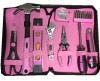 18Pcs Pink Ladies tool bag set (FY1018B1)
