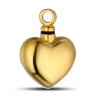 plated 18k gold urn heart pendant