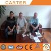 Norway clients visit Carter CT85 mini excavator