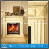 marble fireplace and columns for home in Moscow City