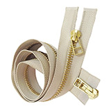 Brass Zipper for Garments