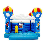 Parachuting Theme Inflatable Bouncer Jumper