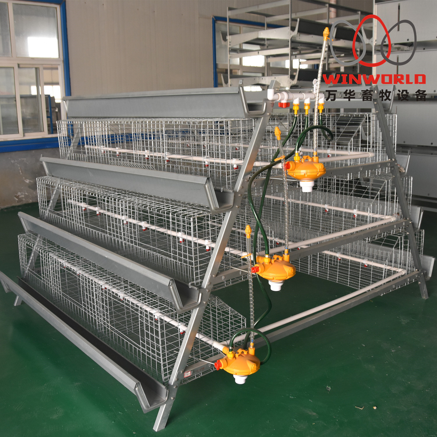 A frame battery broiler cage system