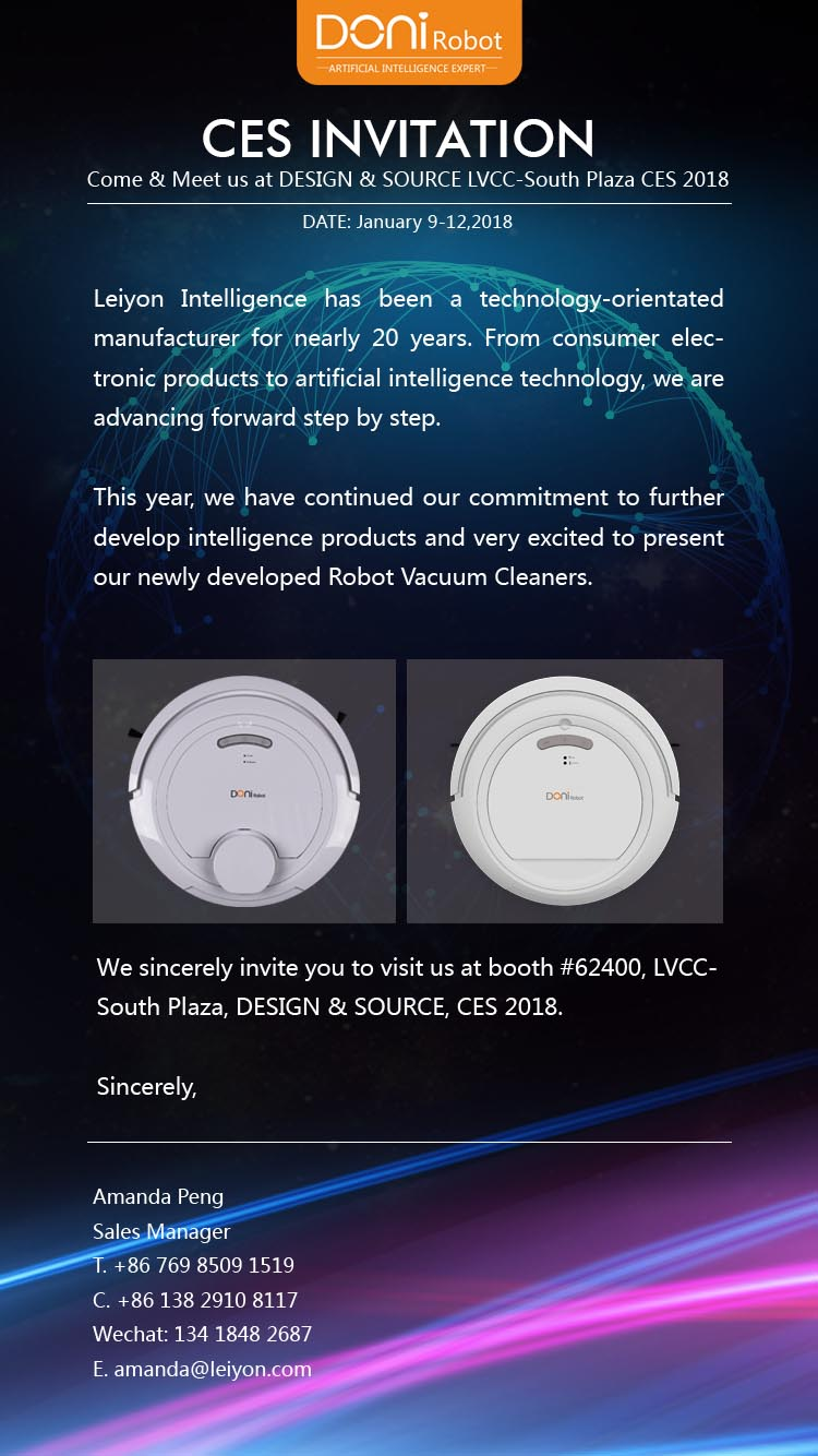 DONI smart robot vacuum cleaners CES 2018 2017.12.27