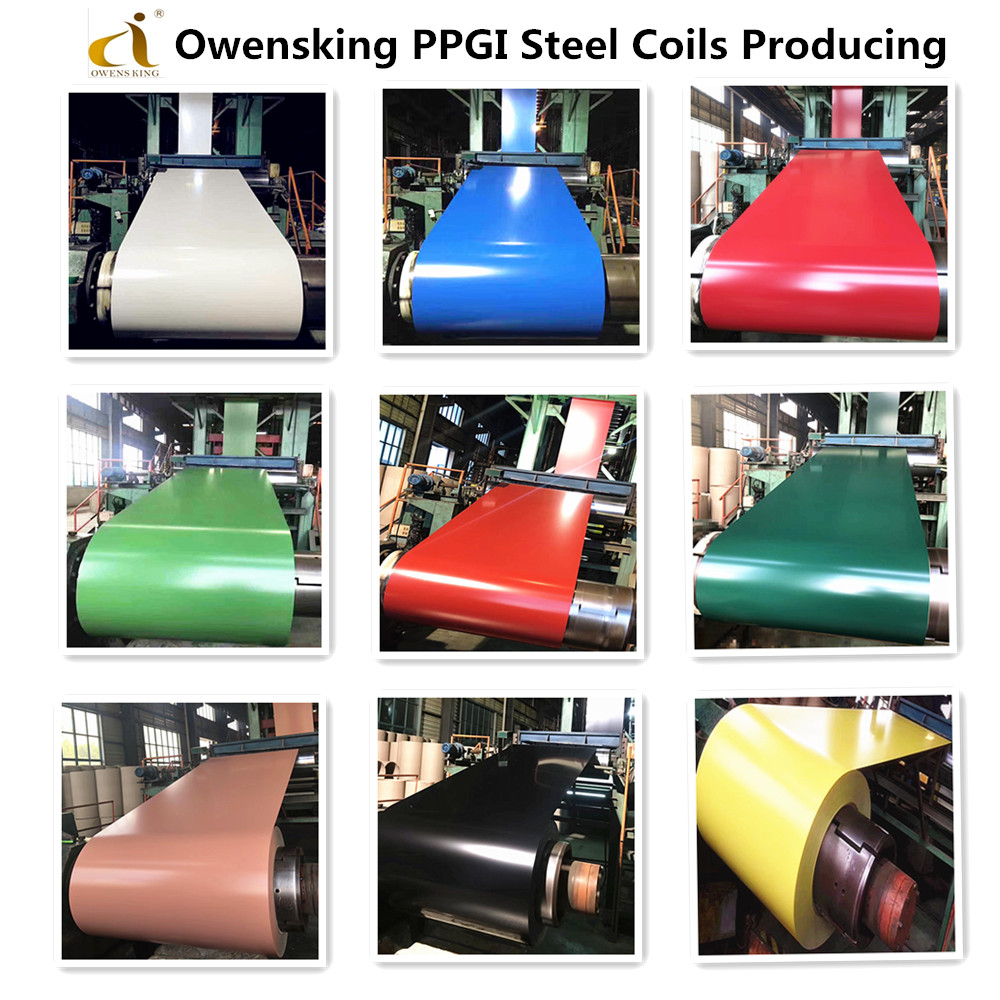 Owensking PPGI steel coil producing courses