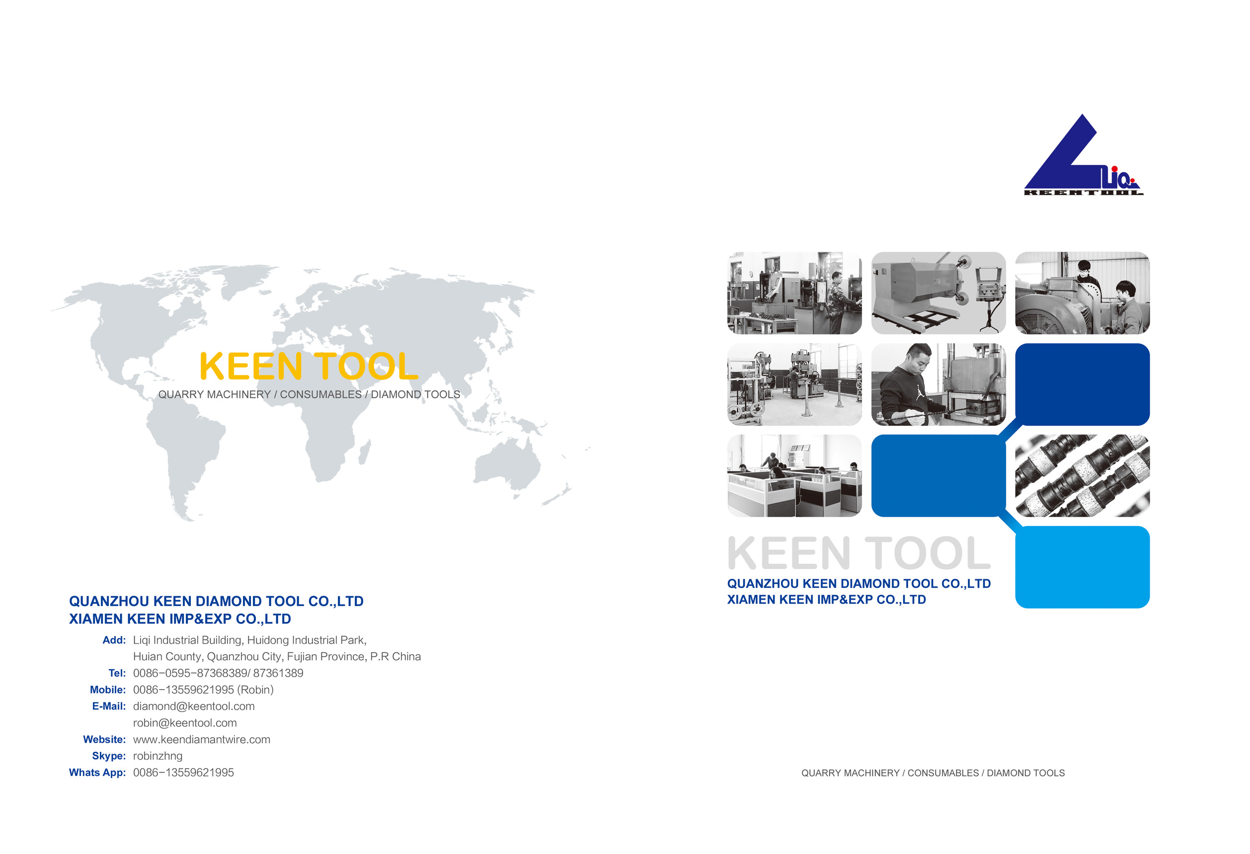 KEENTOOL E-CATALOG FOR MAIN PRODUCTS
