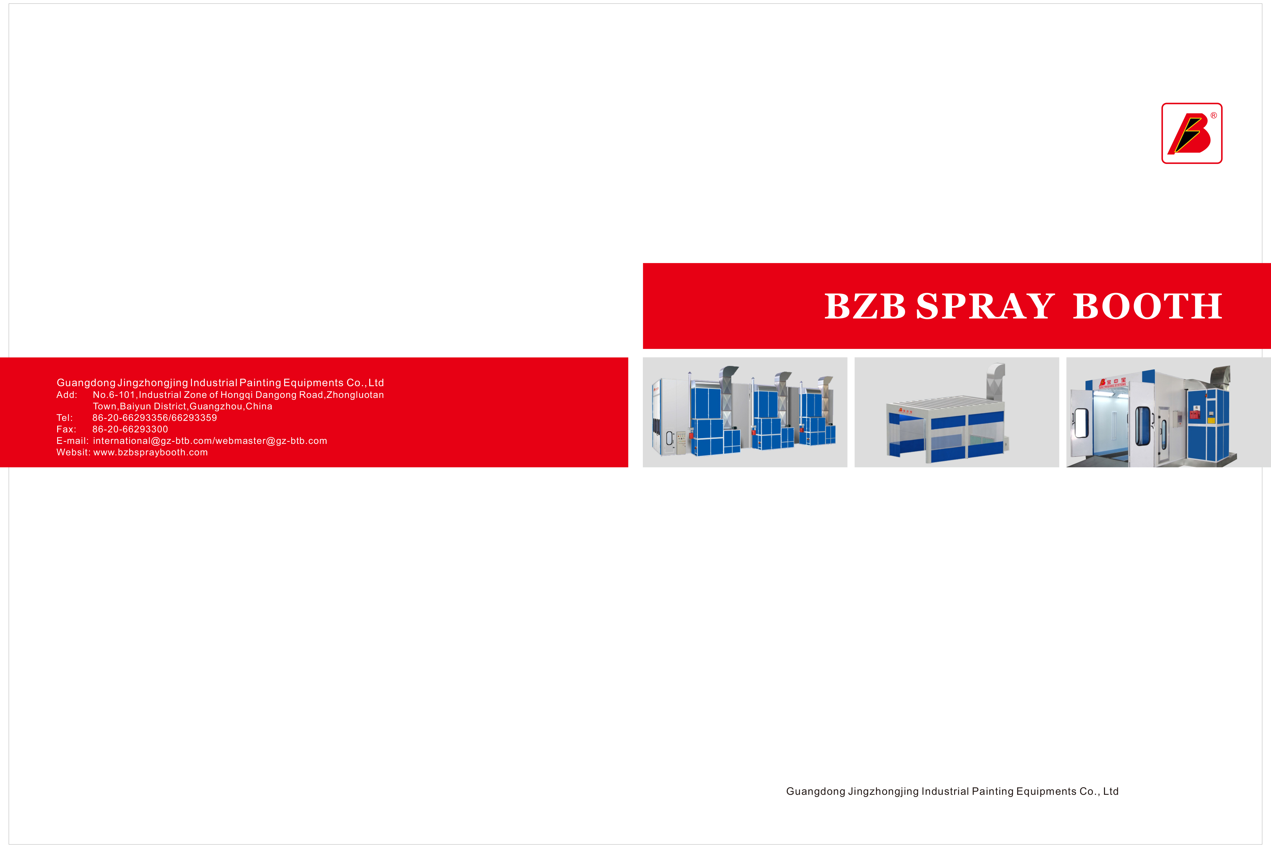 BZB Spray Booth Catalog