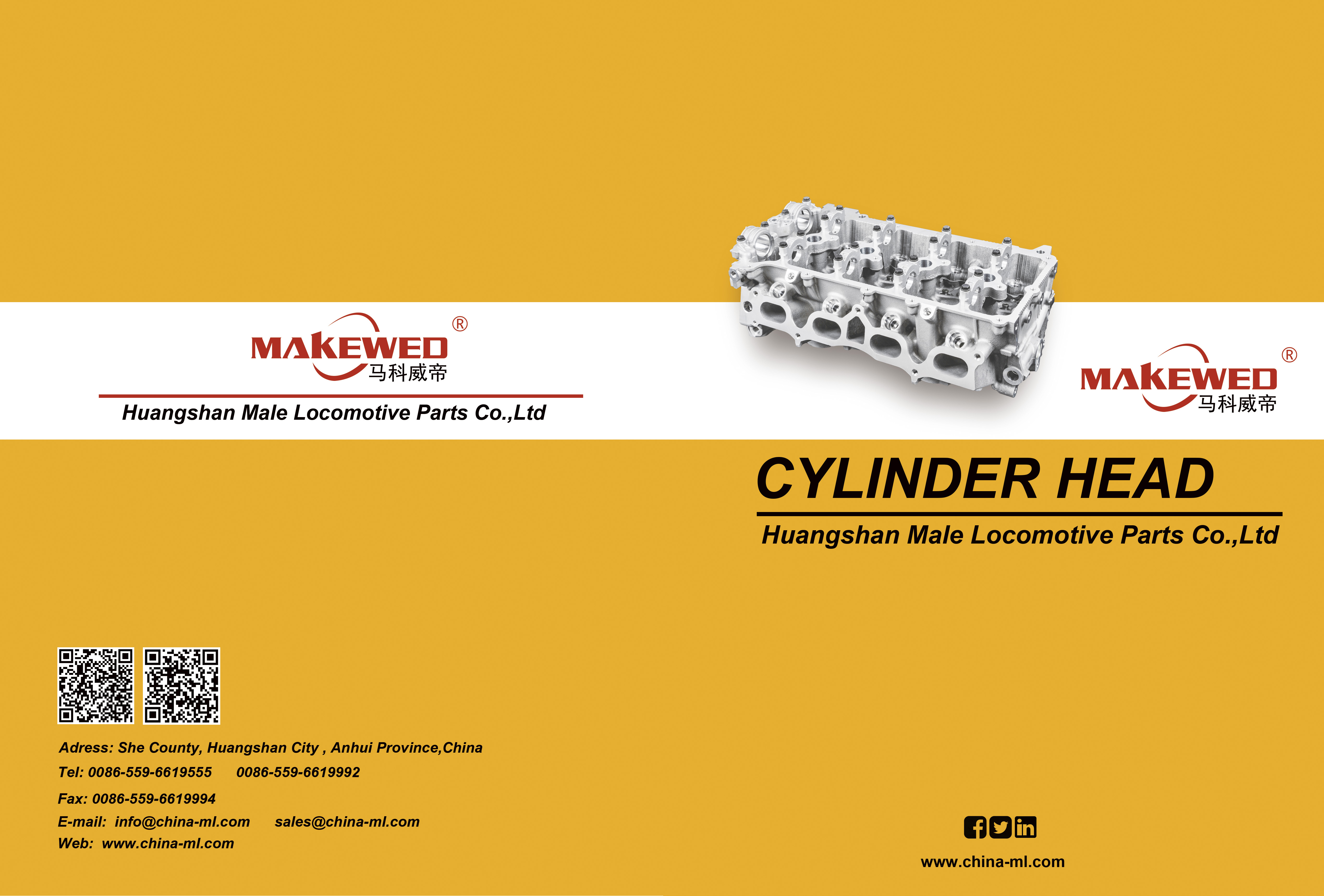 E-catalogue_Huangshan Male Locomotive Parts Co.,Ltd. Parts