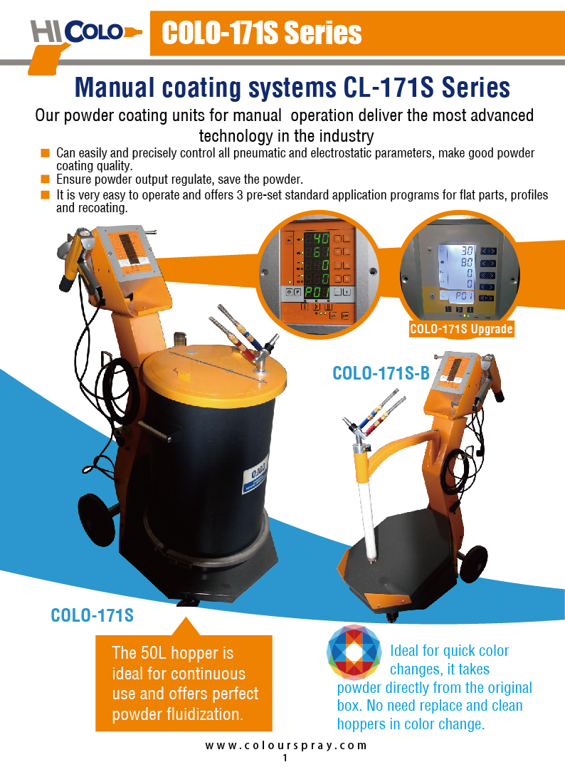 2017 COLO Powder coating machine.