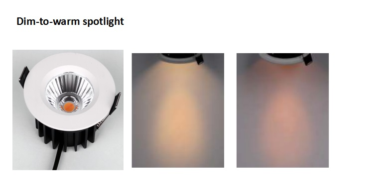Dim-to-warm downlight