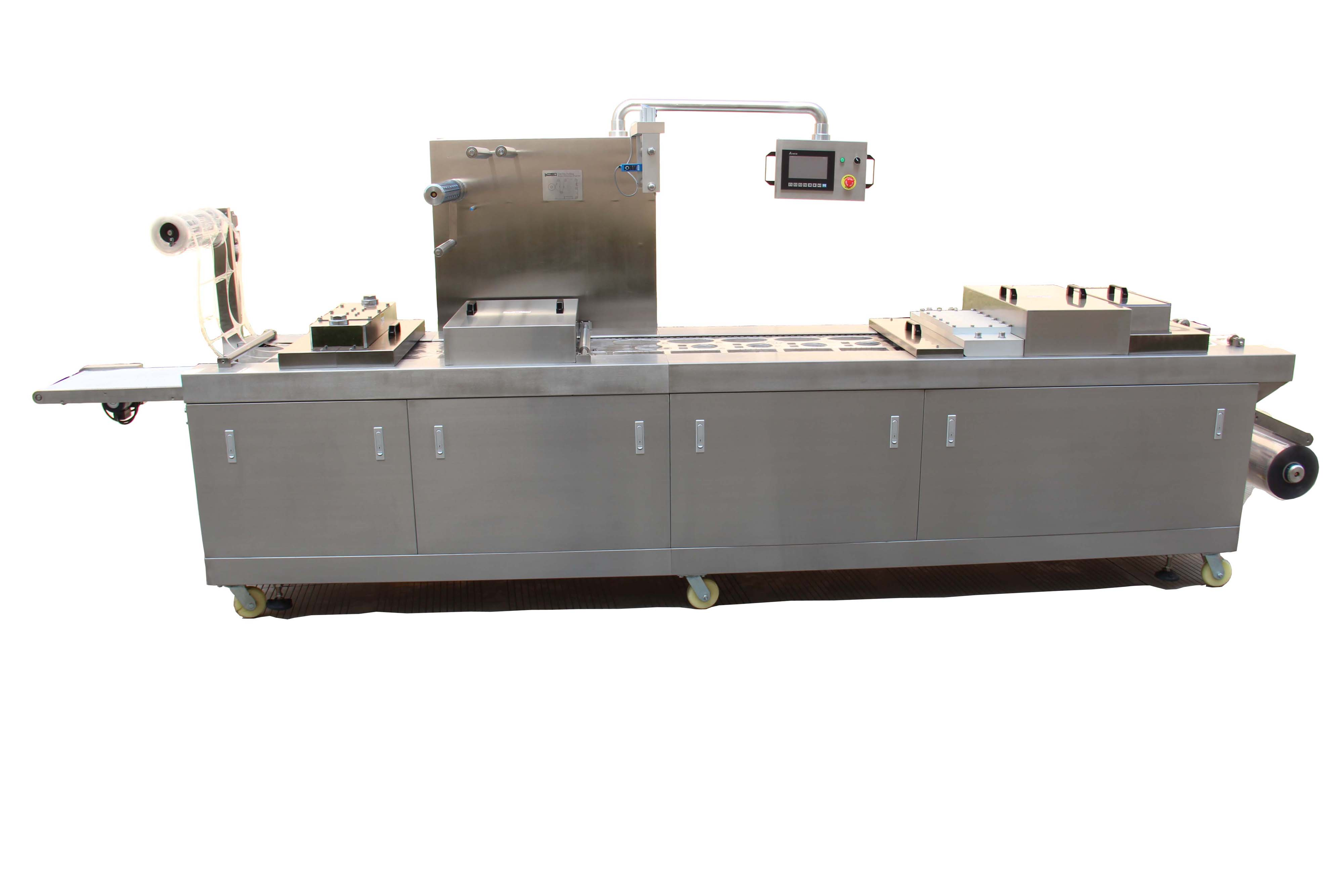 AUTOMATIC THERMOFORMING VACUUM MAP PACKING MACHINE FOR FOOD