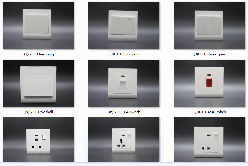 86 Series switch and socket catalogue from China BOYEE