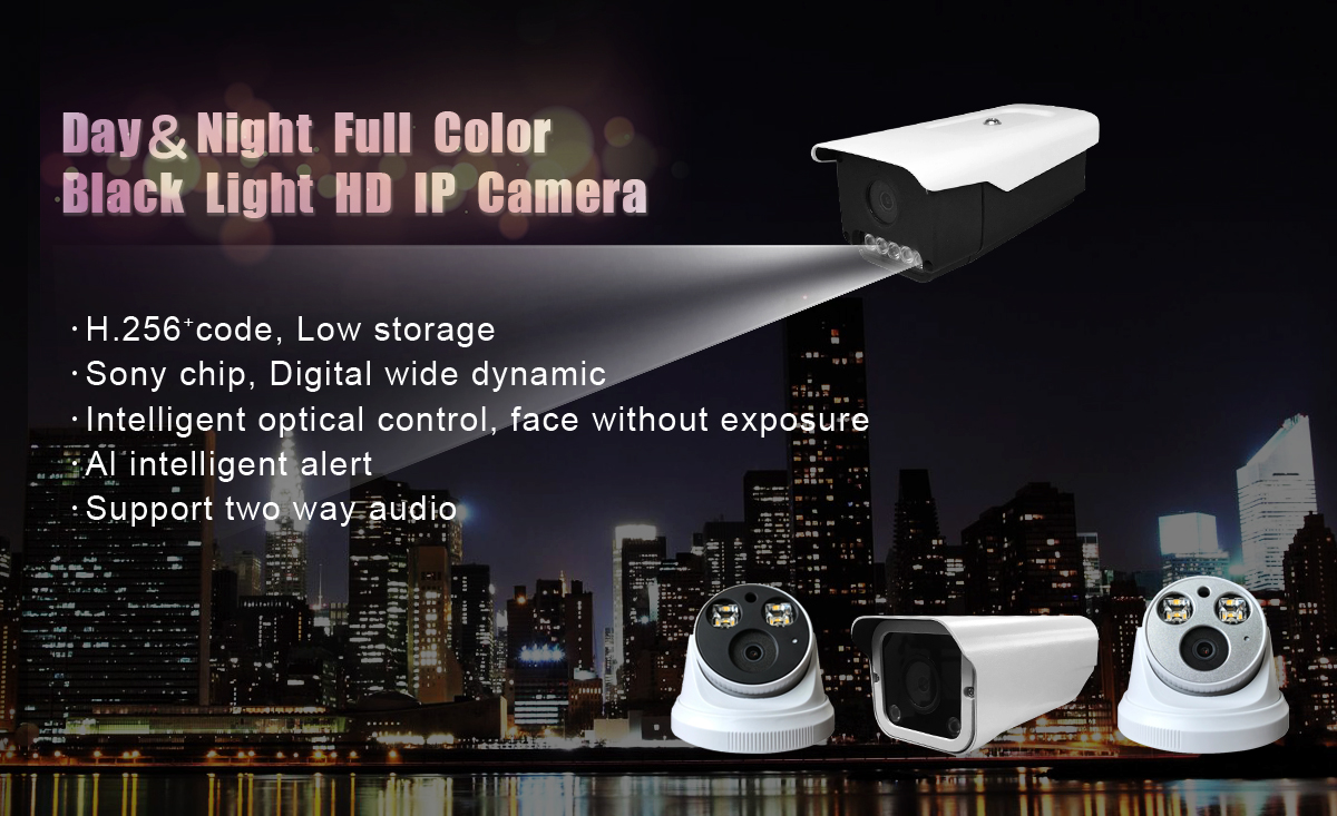 Starlight Full Color in Day & Night IP Camera Series