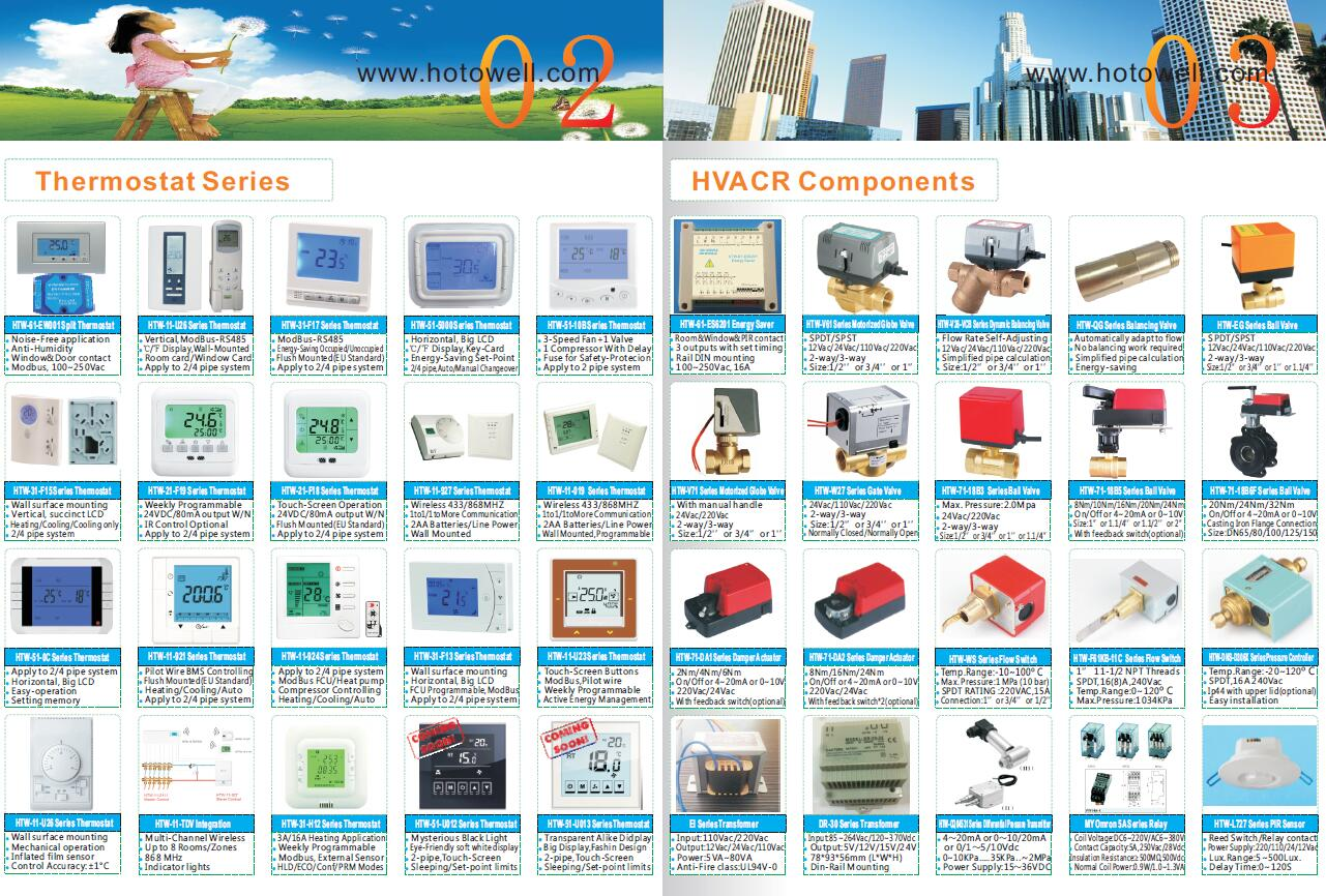 Thermostat-Zone Valve HVAC Component Manufacturer-Hotowell