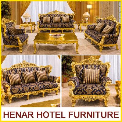 custom royal sofa set royal gold wood living room furniture sofa