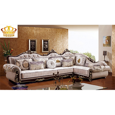 King Size L Shape Fabric Corner Sofa Sq022