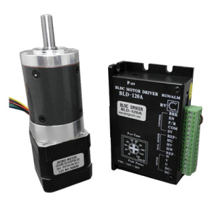 24V 42mm DC Brushless Motor with Planetary Gearbox Ratio 56.5 and 104.80