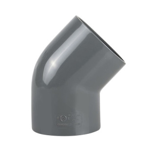 PVC Pipe Elbow 45 of Polyvinylchloride Plastic Fittings