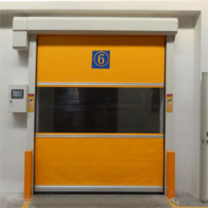 Automatic Industrial PVC Fabric High Speed Fast Rapid Overhead Rolling or Roller Shutter Garage Door