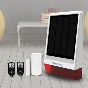 2016 GSM Waterproof Solar-Powered Security Alarm Spot Siren Intruder System APP Control