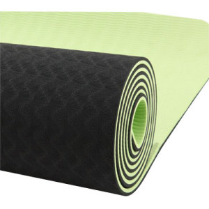 New Design Printed Black TPE Yoga Mat for Sale