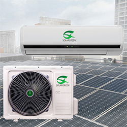 100% 48V/24V Solar Powered Air Conditioner with Independant Power Supply