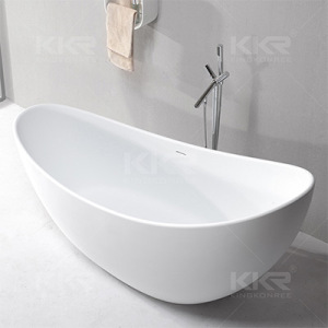 Artificial Stone Acrylic Solid Surface Freestanding Bath Tub