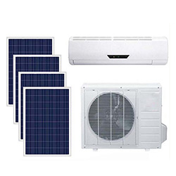 off-Grid Split DC 100% Solar Energy Power Air Conditioner