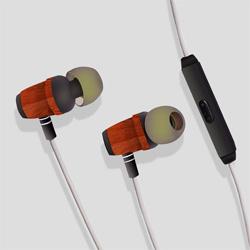 Hi-Fi Braided in-Ear Huanghauli Woodrn Headset for iPhone