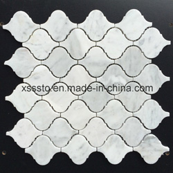 Bianco Carrara White Marble Mosaic Tiles for Kitchen Backsplash & Bathroom