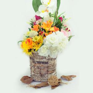 Wooden Flower Garden Pot for Outdoor Decoration