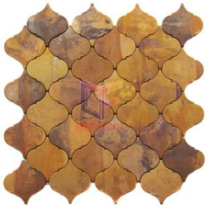Lantern Shape Copper Made Metal Mosaic Tiles for Art Design (CFM975)