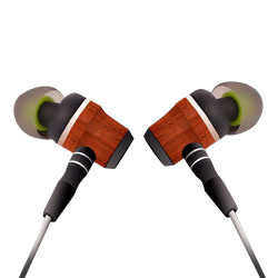 Hi-Fi Stereo Deep Bass Braided in-Ear Wood Earphone for iPhone