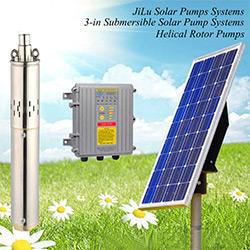 80W-900W 3'' Submersible DC Solar Water Pump System, Screw Pump